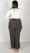 Blair Black and White Pinstripe Trousers