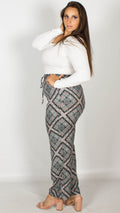 Deborah Abstract Print Trousers