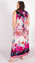 Fuchsia Paisley Maxi Dress