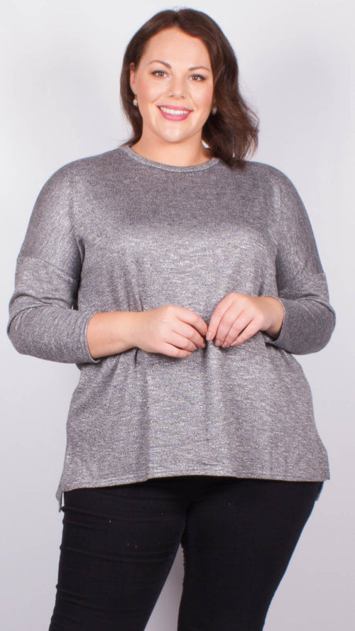 Liliana Long Sleeve Dipped Hem Jumper