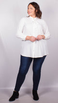 Lydia Tie Up Bow White Blouse
