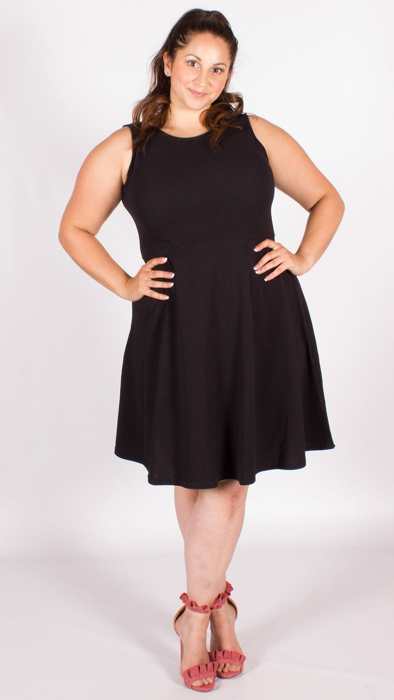 Curve Black Skater Dress