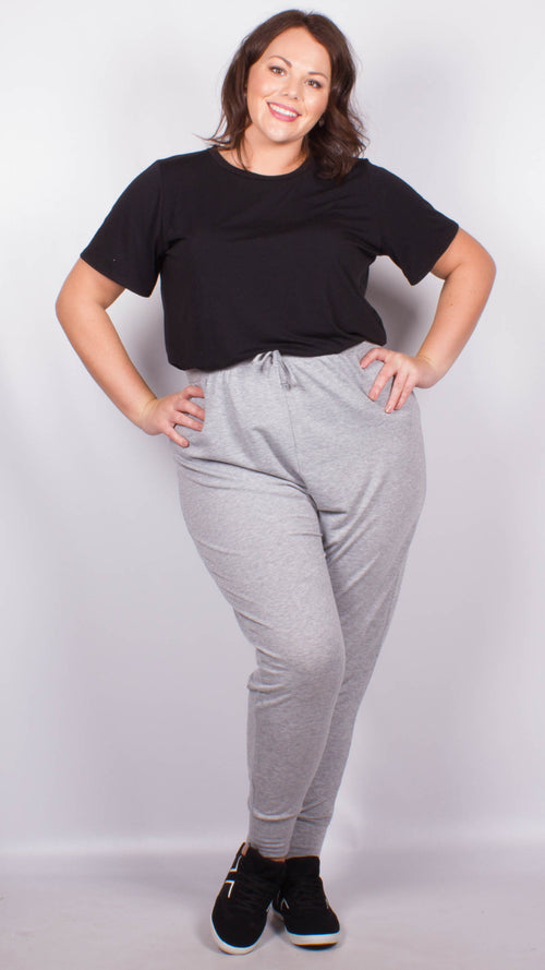 Curvewow Grey Lounge Joggers