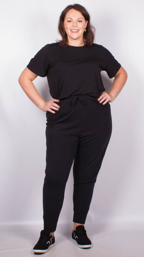 Curvewow Black Lounge Joggers