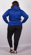Gracie Plain Drawstring Hoodie Royal Blue