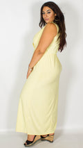 CurveWow Lemon Maxi Dress