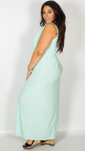 CurveWow Mint Green Maxi Dress