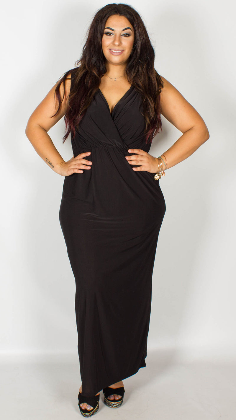 CurveWow Black Maxi Dress