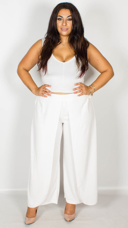 Felicity Palazzo Trousers White