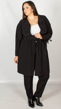 Theia Black Duster Jacket