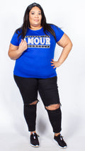 Paige Amour Print Blue T-shirt