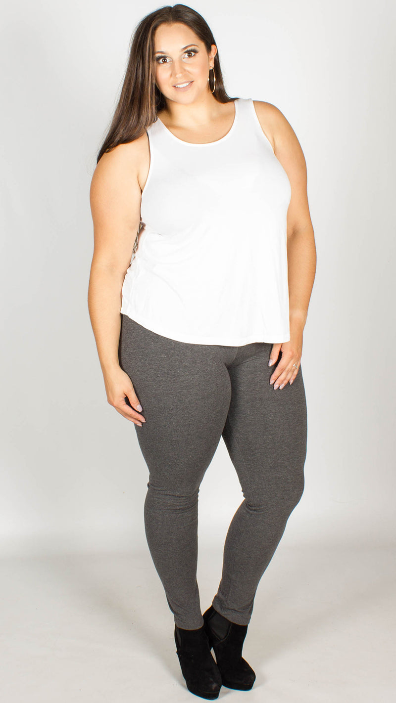 Leandra Charcoal Full Length Cotton Leggings
