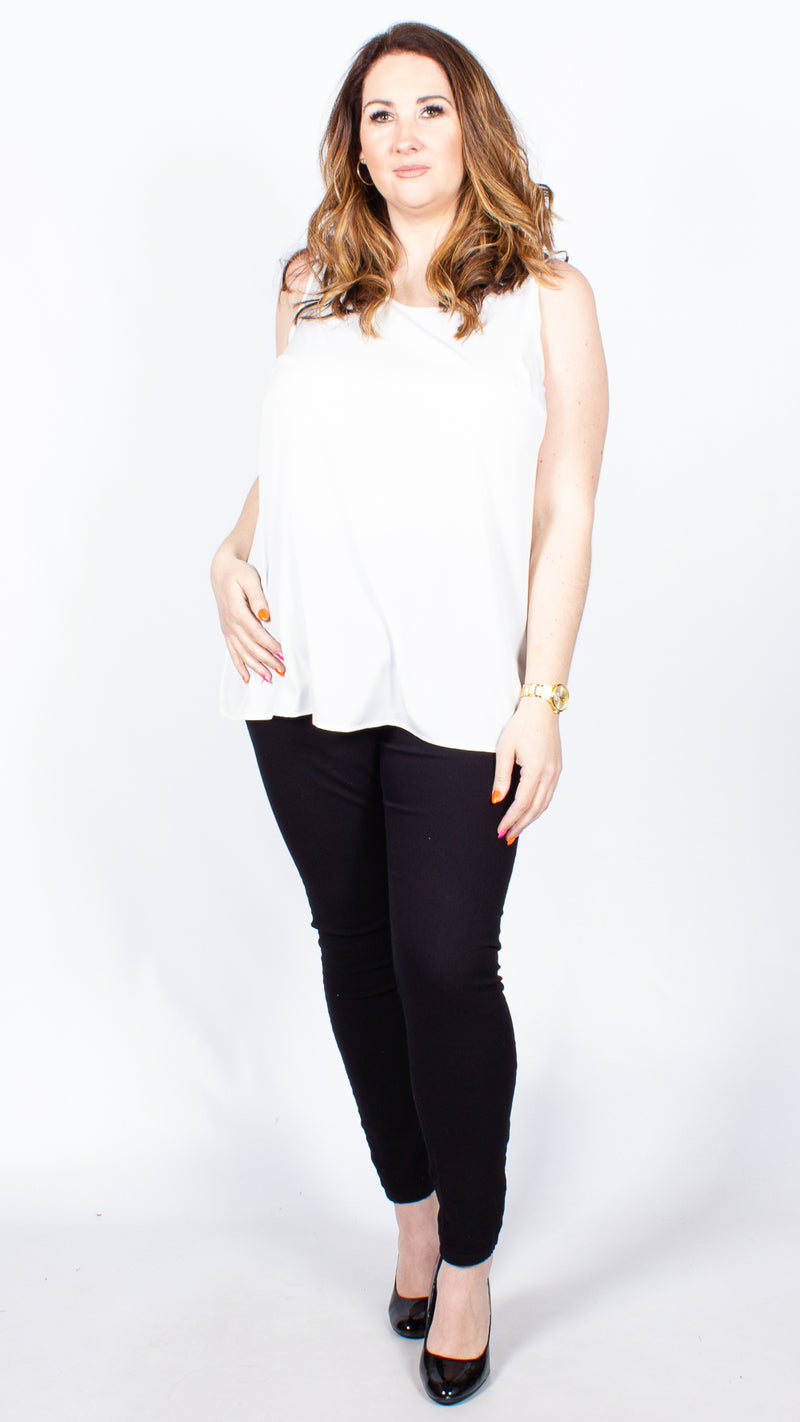 Leanne Ivory Sleeveless Vest Top