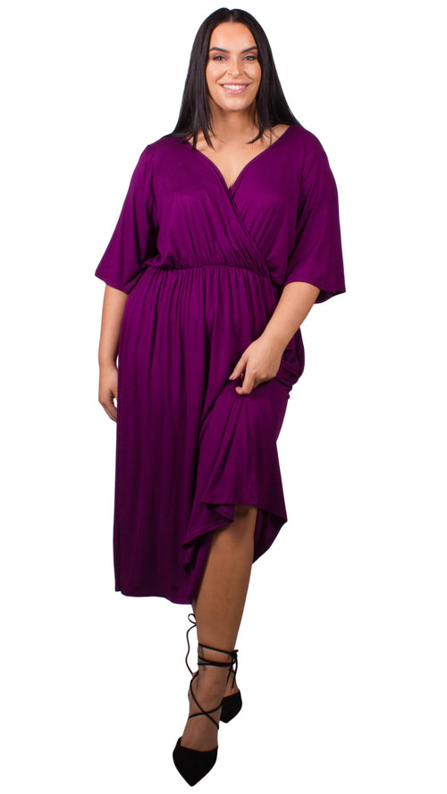 CurveWow Purple Maxi Dress