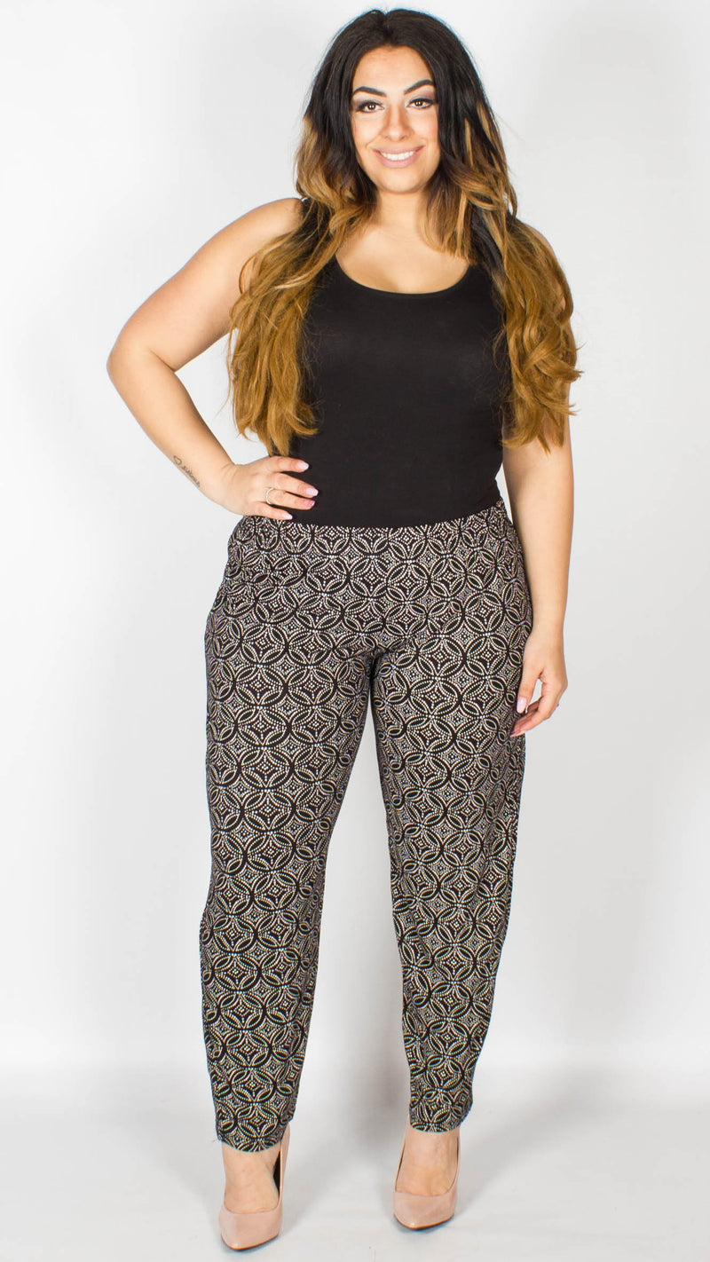Millie Floral Dot Black Trousers