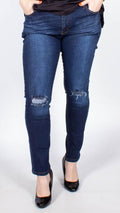 Miley Denim Straight Leg Ripped Jeans