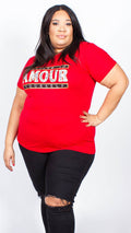 Paige Amour Print Red T-shirt