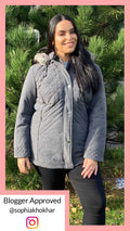 Beatrix Quilted Padded Jacket Charcoal
