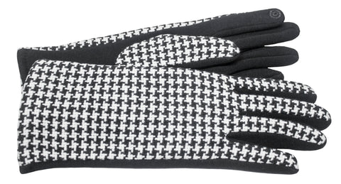 Women's Self-lined Gloves with Fabric Back, Hard Fleece Palm and Touch Fingers - L4591