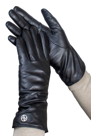 Adrienne Vittadini Glacé Leather Glove with 100% Cashmere Lining - AV000