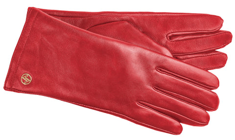 Adrienne Vittadini Glacé Leather Glove with Poly Tricot Lining and ThinsulateTM Insulation - AV037