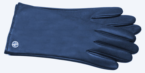 Adrienne Vittadini Glacé Leather Gloves with Cashmere Blend Lining - AV138