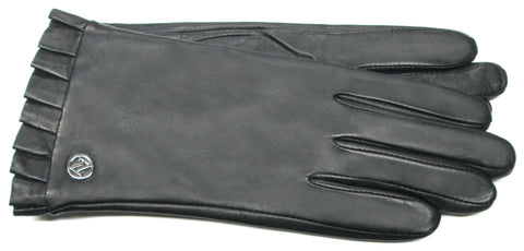 Adrienne Vittadini Glacé Leather Glove with Cashmere Blend Lining - AV139
