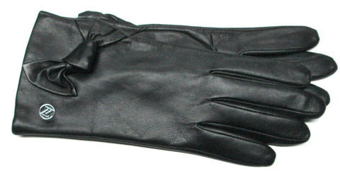 Adrienne Vittadini Glacé Leather Gloves with Cashmere Blend Lining - AV140