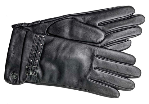 Adrienne Vittadini Glacé Leather Glove with Cashmere Blend Lining - AV144