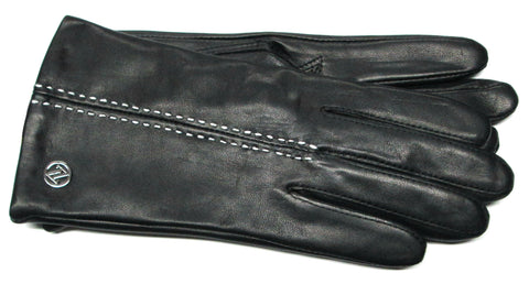 Adrienne Vittadini Glacé Leather Gloves with Cashmere Blend Lining - AV145