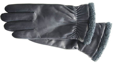 Men's Glace Leather Gloves with ThinsulateTM insulation, Micropile lining & TOUCH TECHNOLOGY