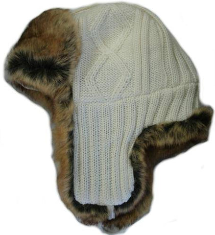 Cable Knit Bomber Hat - H3720