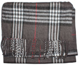 Plaid Acrylic Scarf - H3775
