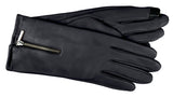 Women's Leather Gloves with Poly Tricot Lining, Cuff Zipper and Touch Technology - L4007