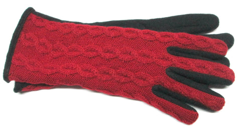 Women's Lambswool Blend Gloves with Poly Tricot Lining - L4067