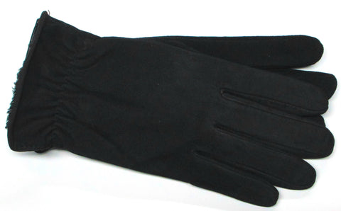 Women's Lambsuede Gloves with Micropile & Aloe Lining - W4245