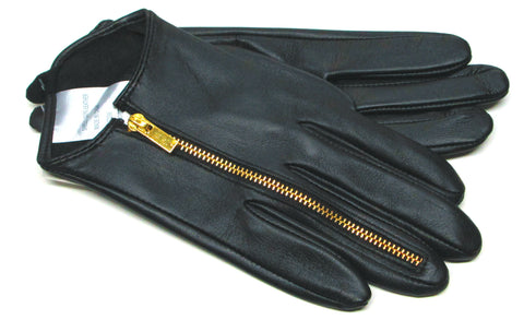 Women's Unlined Sheepskin Leather Gloves with Ring Finger Zipper - L4279