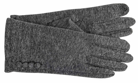 Women's Self Lined Fashion Fleece Gloves with Touch Technology - L4335