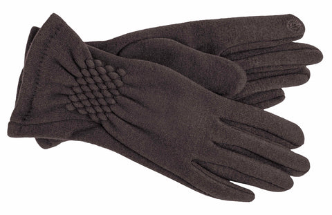 Women's Self Lined Fashion Fleece Gloves with Touch Screen Technology - L4338