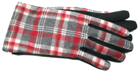 Women's Fabric and Soft-shell Glove with Poly Tricot Lining and Touch Fingers