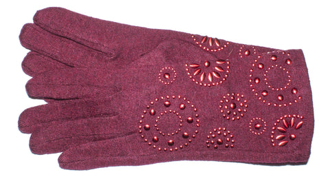 Women's Wool Blend Self Lined Touch Conductive Gloves - L4431