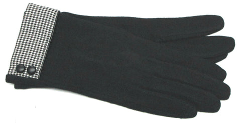 Women's Wool Blend, Self Lined, Touch Conductive Gloves - L4433