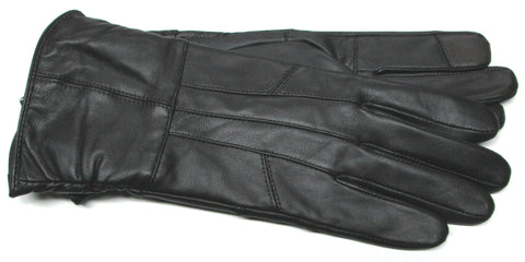 Warm Women's Sheepskin Touchscreen Leather Gloves with Poly Tricot Lining - L4440