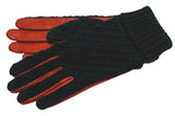 Women's Glacé Leather Palm with Acrylic Knit Gloves and Poly Tricot Lining