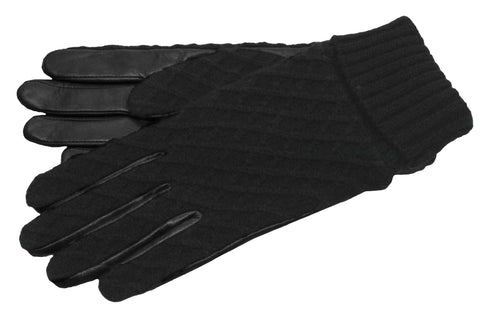 Women's Glace Leather Palm with Acrylic Knit Gloves and Poly Tricot Lining - L4444