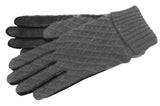 Women's Glacé Leather Palm with Acrylic Knit Gloves and Poly Tricot Lining - L4444