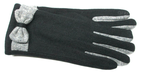 Women's Wool Blend Gloves with Brushed Polyester Lining and Touch Fingers - L4507