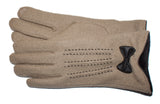 Women's Wool Blend Gloves with Brushed Polyester Lining and Touch Fingers - L4510