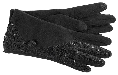 Women's Self Lined Fashion Fleece Gloves with Touch Screen Technology - L4515