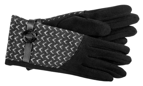 Women's Self Lined Fashion Fleece Gloves - L4526